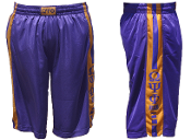 OPP Purple/Old Gold Gym Shorts