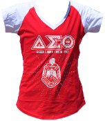 DST Red T-Shirt with Rhinestones