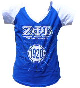 ZPB Blue T-Shirt with Rhinestones