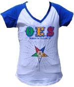 OES White T-Shirt with Rhinestones