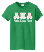 AKA Kelly  Greek Letters Tee