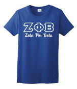 ZPB Royal Greek Letters Tee