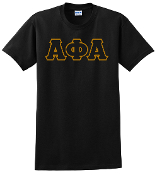 APA Black Greek Letter Tee