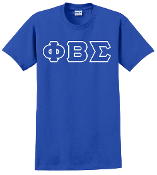 PBS Royal Greek Letter Tee