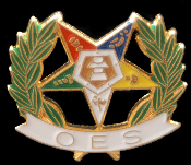 OES Shield/Letters Lapel Pin