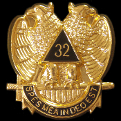 MAS 32nd Degree Wings Down Auto Emblem