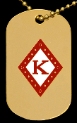 KAP Diamond Single Sided Dog Tag