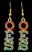 OES Crystal Bling Earrings