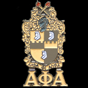APA Shield With Greek Letters Cuff Links