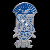 PBS Shield With Greek Letters Cuff Links