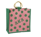 AKA Small Polka Dot Jute Bag