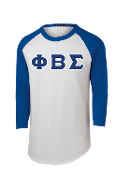 PBS Raglan 3/4 Sleeves Greek Letter Tee
