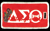 DST Greek Letters Luggage Tag