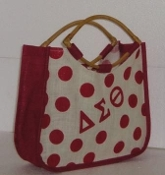 DST Polka Dot Jute Bag