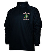 AKA Black Shield Half Zip Pullover Jacket