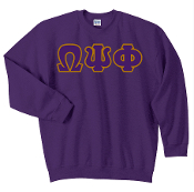 OPP Purple Greek Letter Sweat Shirt