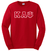 KAP Red LS Greek Letter Tee