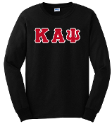 KAP Black LS Greek Letter Tee