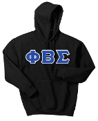PBS Black Greek Letter Hoodie