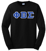 PBS Black LS Greek Letter Tee