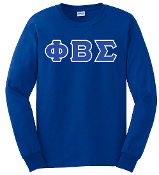 PBS Royal LS Greek Letter Tee