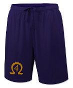 OPP Purple Line Number Gym Shorts