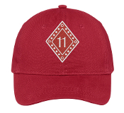 KAP Red Line Number Hat