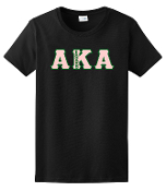 AKA Black Greek Letters Tee