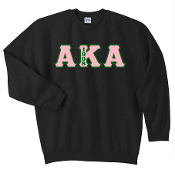 AKA Black Crewneck Sweat Shirt