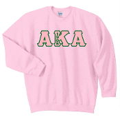 AKA Pink Crewneck Sweat Shirt
