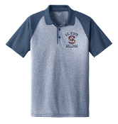 SCSU Navy Heather Raglan Polo