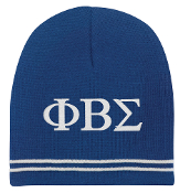 PBS Royal/White Beanie