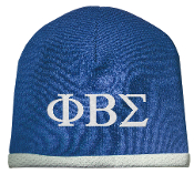 PBS Royal/White Beanie II