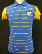 SGRho Striped Polo with contrasting sleeves