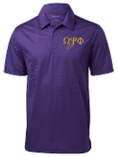 OPP Purple Greek Letter Dogtag Polo with Chapter and Line Number