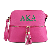 AKA Pink Crossbody Bag with Tassel