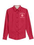 DST Red Long Sleeve Button Down Shirt