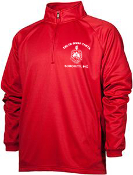 DST Red Half Zip w/Shield Pullover Jacket