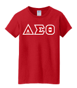 DST Red Greek Letter Tee