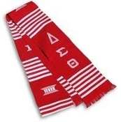 DST Red Stole with Greek Letters