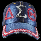 DST Rhinestone Denim Hat