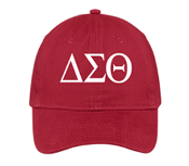 DST Red Greek Letter Baseball Hat