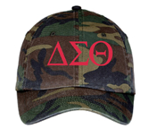 DST Camo Greek Letter Baseball Hat