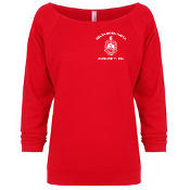 DST Red French Terry 3/4 Sleeve Shirt
