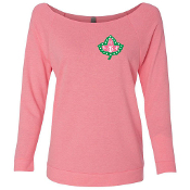 AKA Ivy Neon Pink French Terry 3/4 Sleeve Shirt