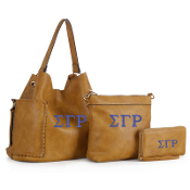 SGRho Gold 3-in-1 Soft Leather Handbag