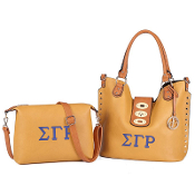 SGRho Gold 2-in-1 Soft Leather Handbag