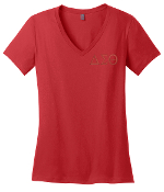 DST Red V-Neck Tee