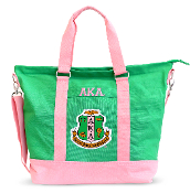 AKA Pink/Kelly Canvas Tote Bag